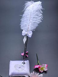 halpa -Wedding Guestbook / Pen Set / Ring Pillow Sekoita ja sovita / Koristeet Kanssa Kukkakuvio / Sydän Puuvilla / pellava