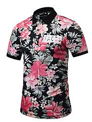 cheap -Men's Polo - Floral Black XL