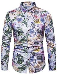voordelige -Heren Overhemd Kleurenblok Wit XL