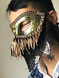 preiswerte -Superheld Cosplay Kostüme Maske Kinder Erwachsene Herrn Cosplay Halloween Halloween Karneval Maskerade Fest / Feiertage Kunststoff Spitze Golden Karneval Kostüme Niete Spitze