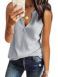 저렴한 -여성용 솔리드 티셔츠 블러슁 핑크 L