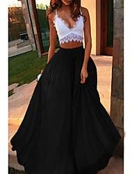 זול -אחיד - חצאיות נדנדה בסיסי בגדי ריקוד נשים