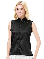 b1fa00c27 abordables -Mujer Camisa Un Color Morado L