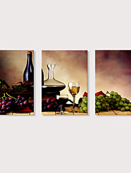 preiswerte -Druck Aufgespannte Leinwandrucke - Photografisch Speisen & Getränke Modern Drei Paneele