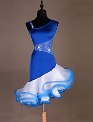economico -Balli latino-americani Vestiti Per donna Prestazioni Elastene / Organza Cristalli / Strass Senza maniche Abito