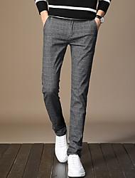 tanie -Męskie Moda miejska Garnitury Spodnie - Solidne kolory Czarny