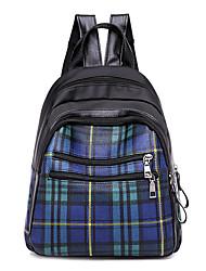 رخيصةأون -نسائي أكياس نايلون حقيبة ظهر سحاب لون الصلبة أزرق