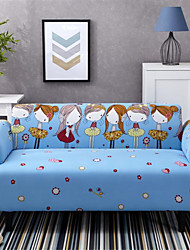 cheap -Cartoon Girl Durable Soft High Stretch Slipcovers Sofa Cover Washable Spandex Couch Covers