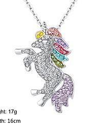 baratos -Mulheres Geométrico Colar Cavalo Na moda Adorável Prata 16 cm Colar Jóias 1pç Para Diário