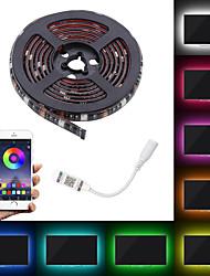 Недорогие -Светодиодный патч 5050 10мм водонепроницаемый 60led RGB цвет гибкий кабель с подсветкой приложения управления телевизором