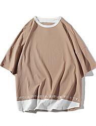 economico -T-shirt Per uomo Collage, Tinta unita / Monocolore Bianco XL