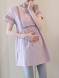 Недорогие -Жен. Классический А-силуэт Оболочка Платье - Однотонный Выше колена