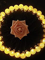 billige -3M Lysslynger 20 lysdioder Varm hvid Dekorativ Soldrevet 1set