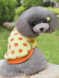 hesapli -Köpekler Paltolar Köpek Giyimi Yuvarlak Noktalı Sarı Mavi Pembe Terylene Kostüm Uyumluluk Corgi Beagle Bulldog Sonbahar Kış Bayan Sweet Style Günlük / Sade