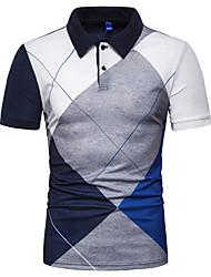 voordelige -Heren T-shirt Kleurenblok Rood XL