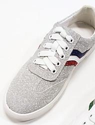 رخيصةأون -نسائي جلد الربيع أحذية رياضية كعب مسطخ أبيض / فضي