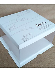 Недорогие -Кубический Картон Бумага Фавор держатель с Узоры / принт Коробочки / Горшки и банки для конфет / Коробка для хранения - 1шт