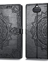 tanie -Kılıf Na Sony Xperia XA3 Etui na karty / Flip Pełne etui Solidne kolory Twardość Skóra PU na Xperia XA3
