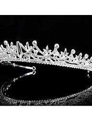 billige -Krystall / Rhinestone / Legering Tiaras / pannebånd / Hodepryd med Glimmer / Krystall / Rhinestone 1 Deler Bryllup / Fest / aften Hodeplagg