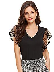 povoljno -Majica s rukavima Žene - Ulični šik Dnevni Nosite Jednobojni Crn L