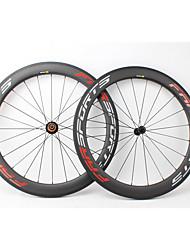Недорогие -FARSPORTS 700CC Колесные пары Велоспорт 23 mm Шоссейный велосипед Углеродное волокно Подходит для клинчерной покрышки / бескамерной шины 20/24 Спицы 60 mm