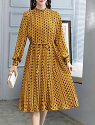 halpa -naisten midi keinu mekko miehistön kaula khaki keltainen laivasto sininen m l xl