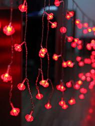 Недорогие -2 м красный фонарь струнные огни 104 светодиода фестиваль новый год декоративные 220-240 v 1 комплект