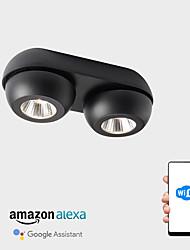 abordables -ZHISHU 2 lumières Géométrique / Nouveauté Plafonniers Lumière dirigée vers le bas Finitions Peintes Métal Acrylique LED, Design nouveau, Cool 110-120V / 220-240V Blanc Crème / Blanc / Wi-Fi