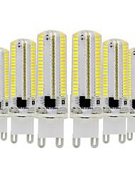Недорогие -ywxlight® 6шт g9 затемняемая силиконовая лампочка для кукурузы 3014 smd 152led энергосберегающая лампа 7 Вт (70 Вт галогеновый эквивалент) светодиодная лампа для домашнего освещения 110-130 В 220-240