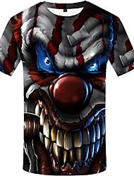 저렴한 -남성용 3D 프린트 - 티셔츠 레인보우 XL