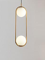 Недорогие -2-Light Оригинальные Подвесные лампы Рассеянное освещение Электропокрытие Металл Стекло Регулируется 110-120Вольт / 220-240Вольт Теплый белый / Холодный белый