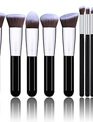 abordables -Profesional Pinceles de maquillaje 10pcs Cobertura completa Confortable Pincel de Fibra Artificial Madera / Bambú para Brocha de maquillaje