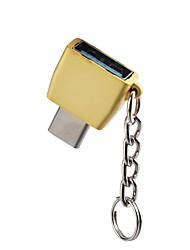Недорогие -OTG / Type-C Адаптер OTG сплав цинка Адаптер USB-кабеля Назначение Samsung / Huawei / LG