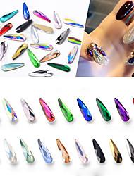billige -10 pcs Bedste kvalitet Rhinsten Rhinsten Til Fingernegl Mode Pære Negle kunst Manicure Pedicure Daglig Mode