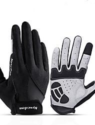 Недорогие -Перчатки для велосипедистов Перчатки для сенсорного экрана Дышащий Противозаносный Пригодно для носки Спортивные перчатки Махровая ткань Черный Синий Розовый для