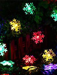 preiswerte -1 Satz LED Laterne Solar Lichterkette 5 Meter 20 Licht Schneeflocke Weihnachten Schneeflocke im Freien wasserdichtes Licht