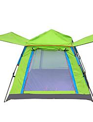 Недорогие -4 человека Палатка с экраном от солнца На открытом воздухе С защитой от ветра Дожденепроницаемый Воздухопроницаемость Однослойный Самораскрывающаяся палатка Палатка 1000-1500 mm для