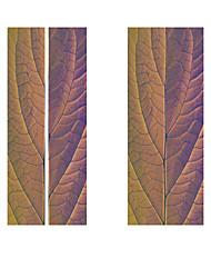 Недорогие -2 шт. / Компл. Творческий фиолетовый листья завод классический стикер двери diy росписи домашнего декора плакат пвх водонепроницаемый стикер