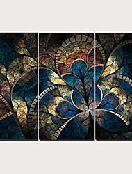 Недорогие -С картинкой Отпечатки на холсте - Цветочные мотивы / ботанический Традиционный Modern 3 панели Репродукции