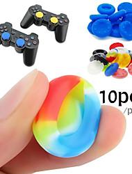 Недорогие -10 резиновый силиконовый игровой контроллер большого пальца ручки ручки для ps4 ультратонкий xbox one xbox 360 wii u контроллер