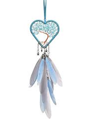 お買い得  -羽が付いているハンドメイドの夢のキャッチャーは形の壁の芸術の装飾を聞きます