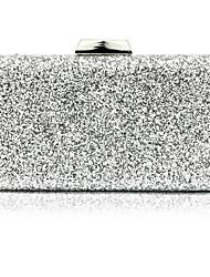 Недорогие -Жен. Пайетки / Цепочки синтетика Вечерняя сумочка Сплошной цвет Черный / Серебряный / Красный / Наступила зима