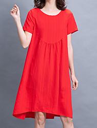 halpa -naisten yläpuolella polvi löysä t-paita mekko punainen oranssi m l xl xxl
