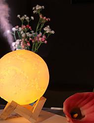 Недорогие -лунный свет увлажнитель usb блок питания мини удобный большой емкости очистки воздуха увлажняющий немой ночник увлажнитель 3 вида светлого цвета 880 мл