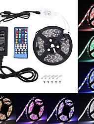 Недорогие -светодиодные полосы 300 светодиодов RGBW 5050 SMD светодиодные полосы RGBWARM белый многоцветный с изменением цвета не водонепроницаемый с 40 клавишами RGBW светодиодный пульт дистанционного