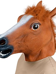 Недорогие -Голова лошади Маски на Хэллоуин Товары для Хэллоуина Животная маска Игрушки на Хэллоуин Ластик Fun & Whimsical Костюмированная вечеринка Жутко Веселая Голова лошади Костюм Ужасы Взрослые