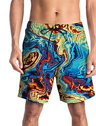 halpa -Miesten Urheilullinen / Perus Chinos housut / Shortsit Housut - Painettu / Patterned Sateenkaari
