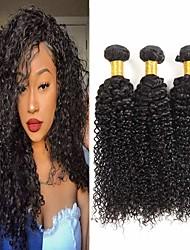 abordables -Lot de 3 Cheveux Brésiliens Kinky Curly Paquets de 100% Remy Hair Weave Tissages de cheveux humains Bundle cheveux One Pack Solution 8-28 inch Couleur naturelle Tissages de cheveux humains Cosplay
