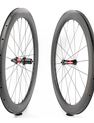 Недорогие -FARSPORTS 700CC Колесные пары Велоспорт 23 mm Шоссейный велосипед Углеродное волокно Клинчерная покрышка 20/24 Спицы 60 mm
