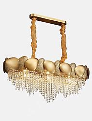 Недорогие -QIHengZhaoMing 9-Light Люстры и лампы Рассеянное освещение Окрашенные отделки Хрусталь 110-120Вольт / 220-240Вольт